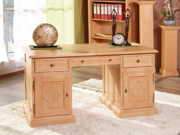 Schreibtisch Computertisch Bürotisch Grande Holzfront Rautendesign