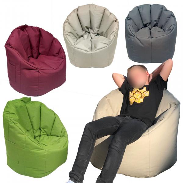 Sitzsessel Sitzsack Garten Sessel ø 70 H 80 cm Gamingsessel outdoor Big Bamba sehr formstabil fest