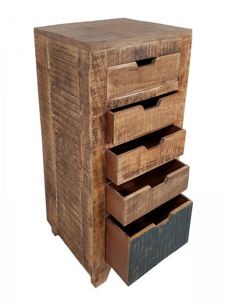 Schubladen Kommode B 40 H 92 cm Schubkastenturm Anrichte Sideboard California natur Mangoholz