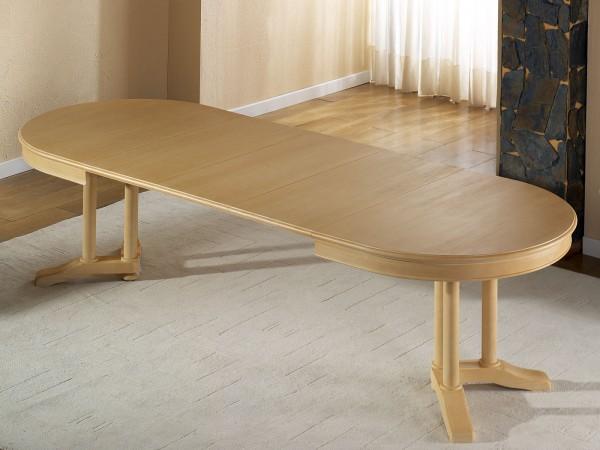 Esstisch oval 160 x 110 cm Allegro mit Einlagen vergrößerbar Pinie massiv
