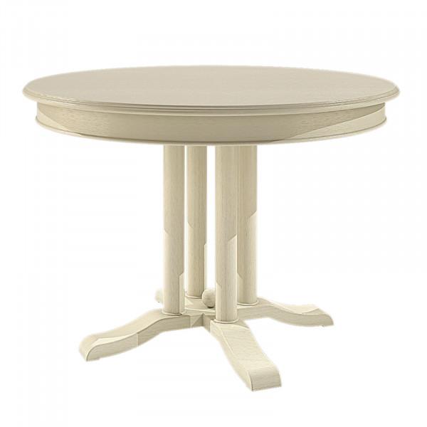 Esstisch Tisch Rund Ausziehbar ø 110 Cm Allegro Mit Klappeinlage