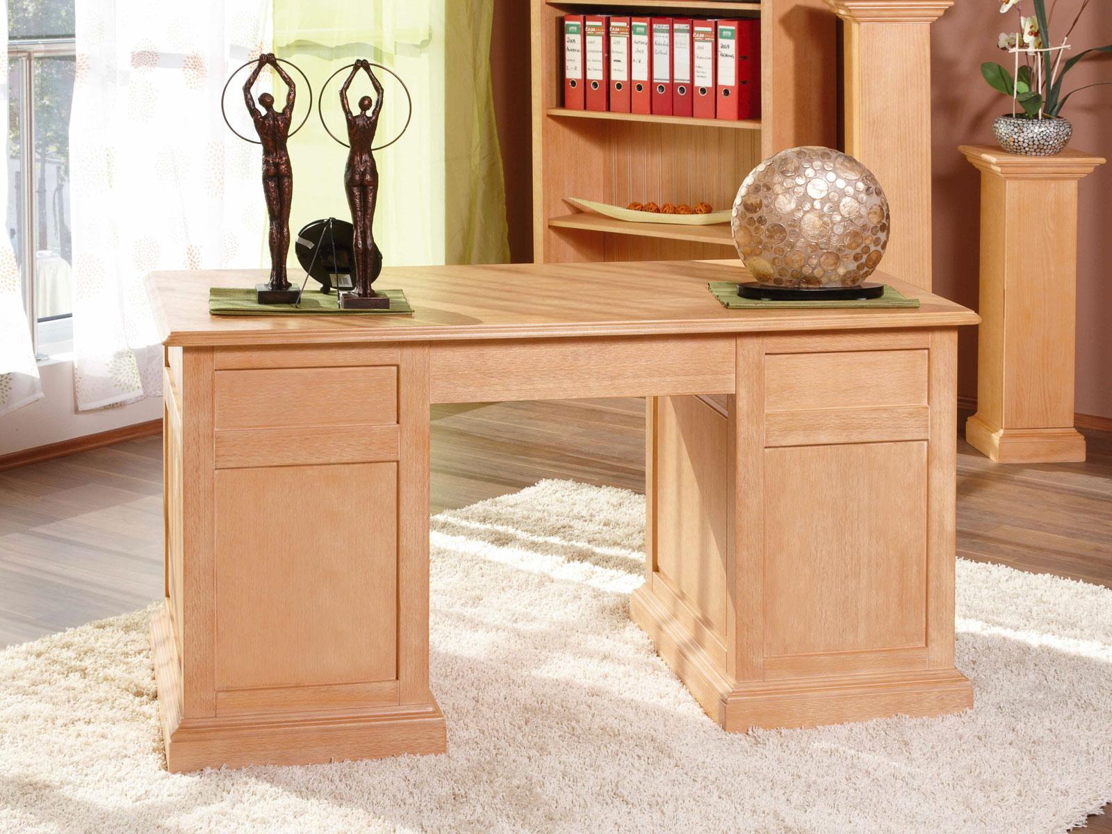 Schreibtisch Computertisch Bürotisch Duett Pinie massiv   MVG