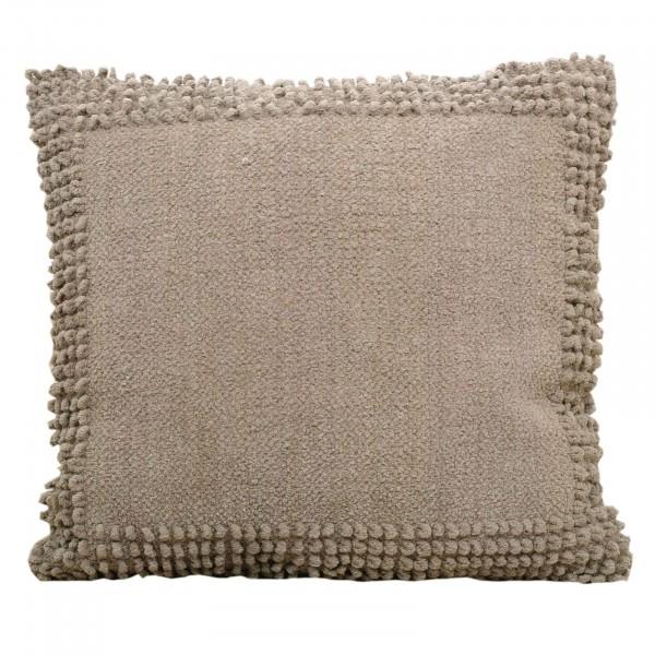 Deko-Kissen Baumwoll-Chenille mit Inlet und Füllung handgefertigt verschiedene Farben