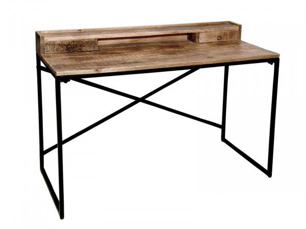 Schreibtisch Computertisch Heimarbeitsplatz 120 x 88 x 55 cm Liverpool Metall-Gestell matt schwarz