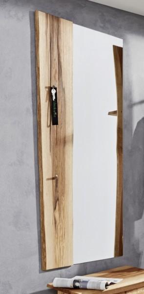 Wandspiegel mit Baumkantenleiste, natur geölt mit Rissen