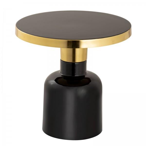 Beistelltisch rund ø 45 H 45 cm Dekotisch Lampentisch Sofatisch Glam Tisch Metall und Emaille
