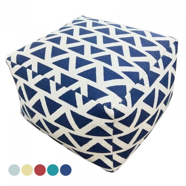 Sitzhocker Sitzwürfel 55x37x55 cm Fußhocker Bodenkissen Design Pouf Kelim Style Maja 5 Farben