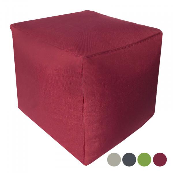 Sitzwürfel Sitzhocker 45x45x45 cm Fußhocker Fußablage Bodenkissen Bamba formstabil wasserfest