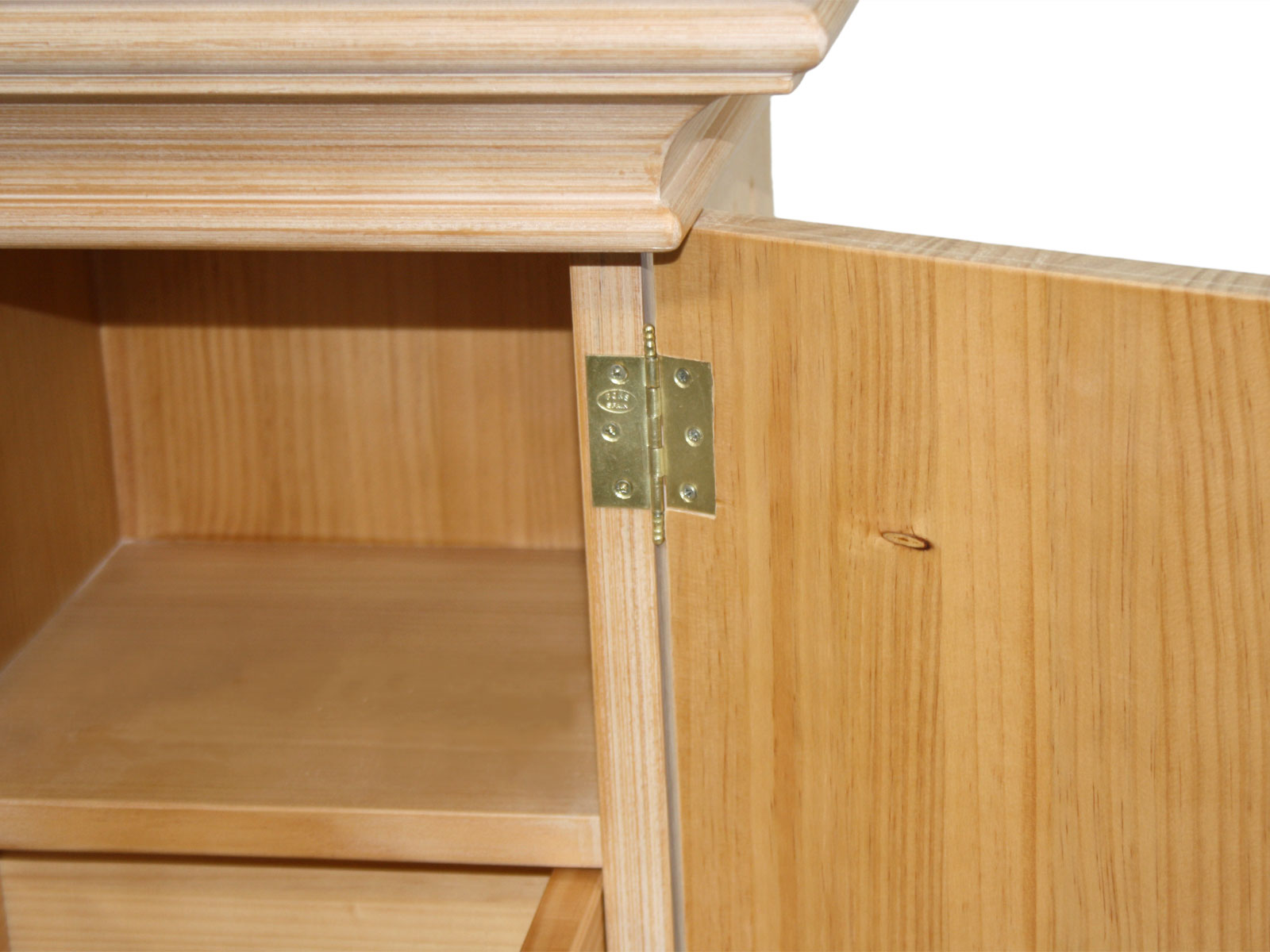 s ulenschrank chalet mit holzt r und schubkasten pinie massiv 42 x 42 cm mvg. Black Bedroom Furniture Sets. Home Design Ideas