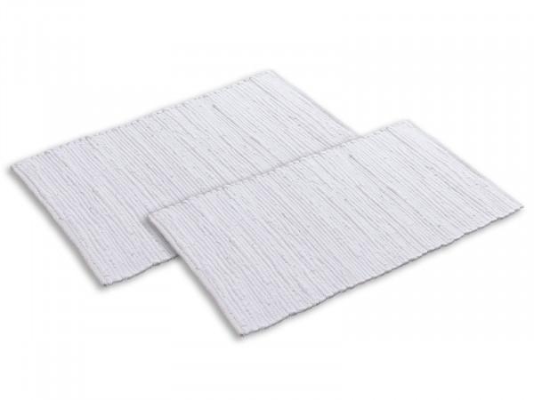 Badteppich Set 2er groß 80 x 50 cm 100% Baumwolle Badematte Badvorleger Badezimmerteppich Chindi