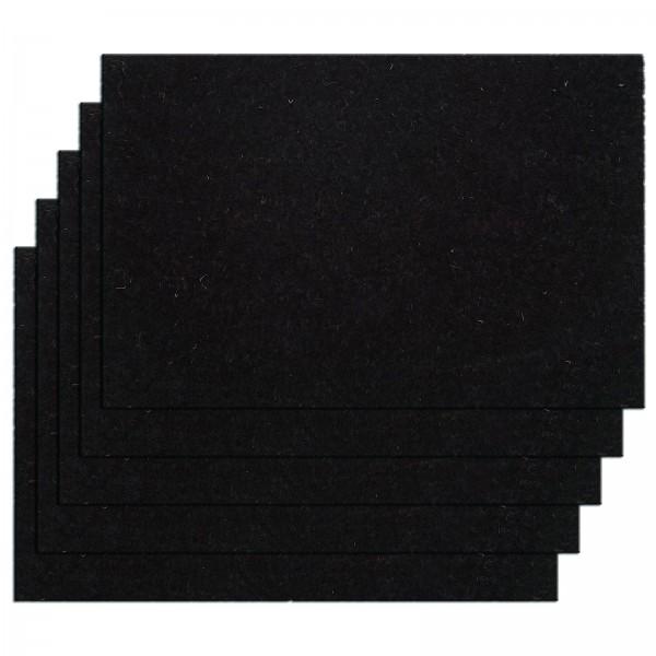 Kokosmatte 5er Set Türvorleger Schmutzfangmatte Fußmatte Fußabtreter einfarbig für Haustür 3 Farben