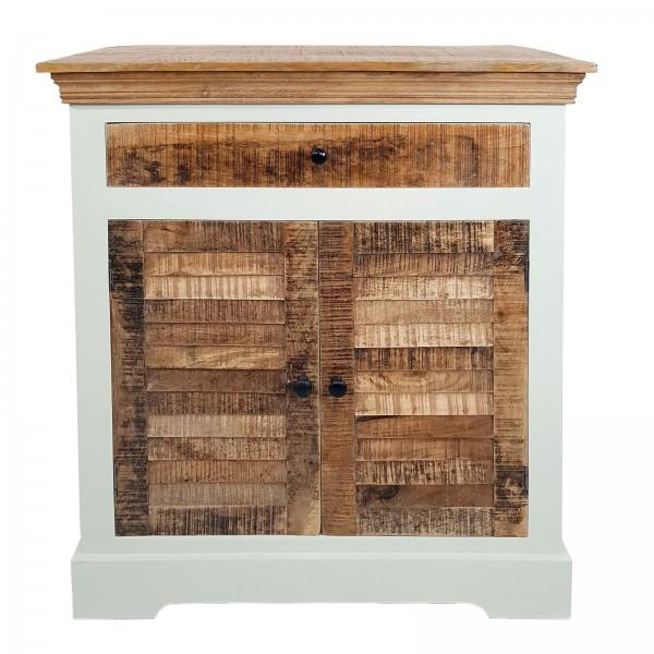 Anrichte Kommode B 80 H 90 cm Sideboard Ibiza Massivholz Mangoholz massiv weiß natur