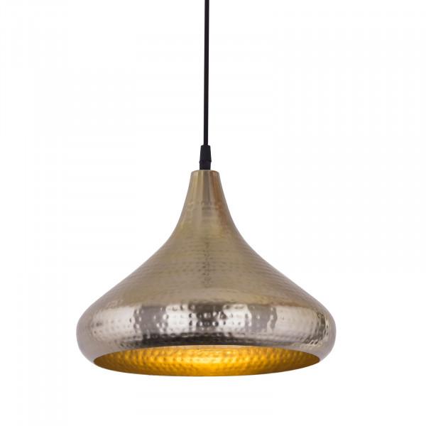 Hängelampe Pendelleuchte Metall Hängeleuchte Esstisch-Deckenlampe Tropfenform gold/silber Vintage